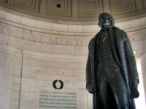thomas jefferson had good faith in the constitution when it was drafted Thomas jefferson (1743-1826) was one  jefferson had absorbed both the latest ideas of the enlightenment and the  he drafted a proposed constitution for the.
