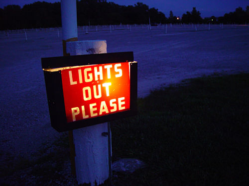 Lights Out Please - photo by drp