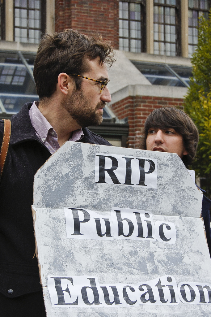 RIP Public Education - photo by Sasha Kimel