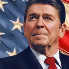 President Ronald Reagan - image by Edalisse Hirst