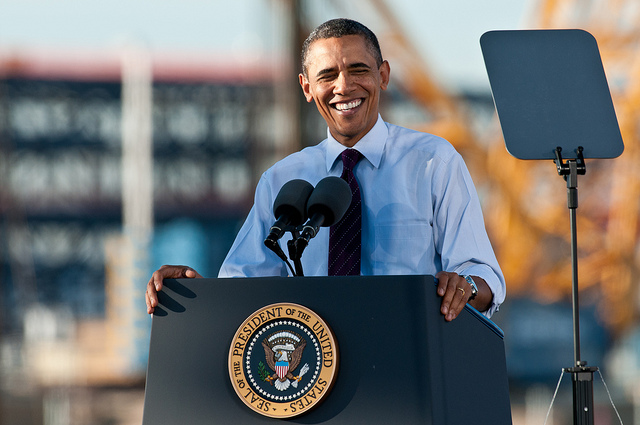 President Obama - photo by Nick Knupffer