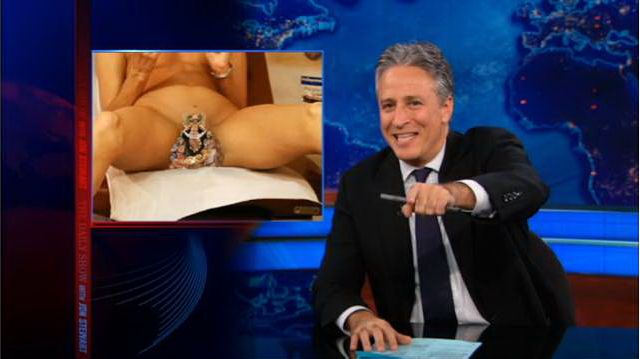 "The Daily Show with Jon Stewart - ""vagina mangers"""