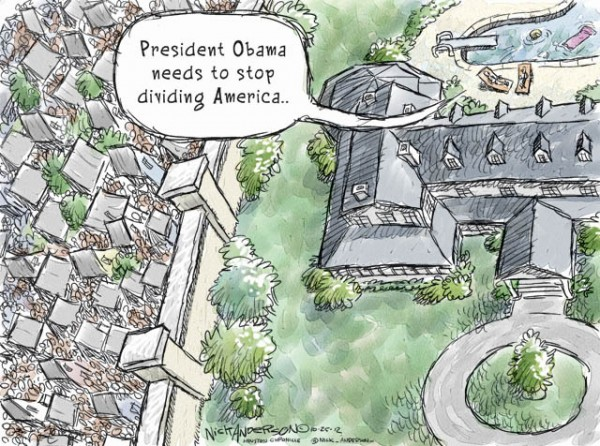 America divided - a cartoon by Nick Anderson, The Houston Chronicle