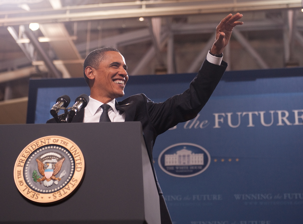 President Obama - photo by pennstatelive
