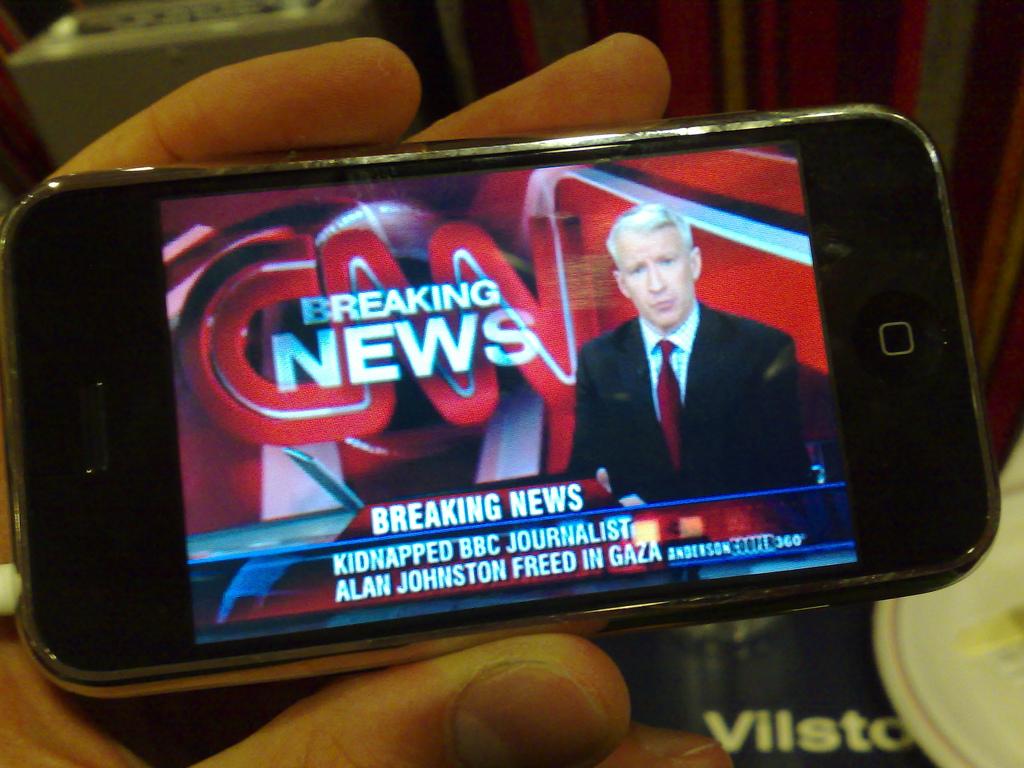 Breaking News - CNN - photo by Erik Mörner