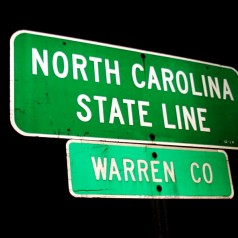North Carolina - state line
