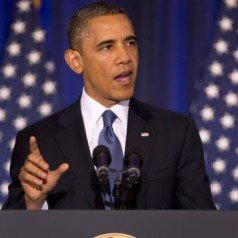 President Obama - National Defense University - photo by AP