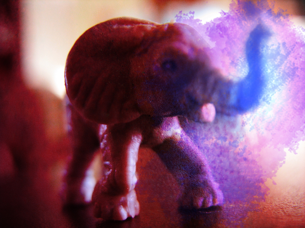 Elephant Blue Sneeze - image by Lance Page - truthout.org