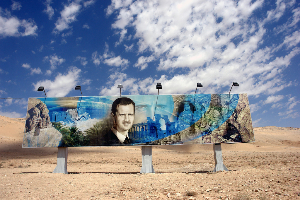 bashar-assad-damascus-roadside-mural - photo by James Gordon