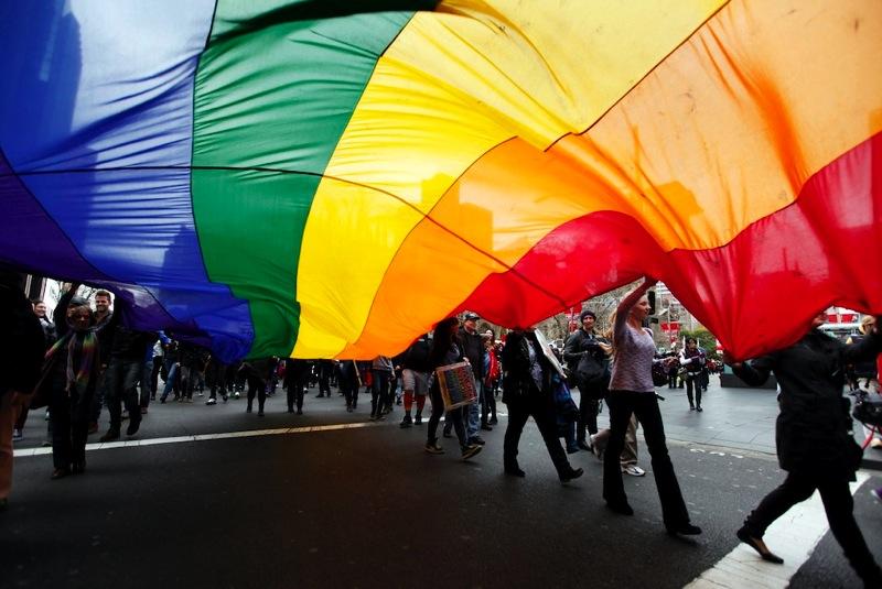 Same sex marriage rainbow