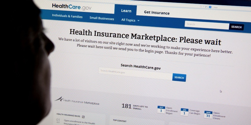 Obamacare marketplace website error