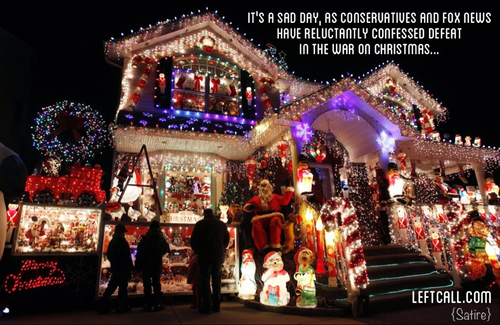 Conservatives admit defeat in the War on Christmas