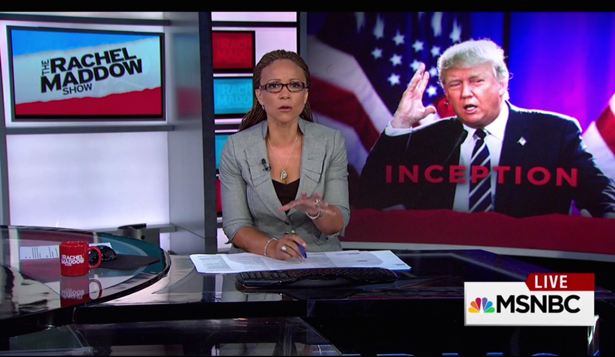 Melissa Harris-Perry fills in for Rachel Maddow on Monday's The Rachel Maddow Show on MSNBC.
